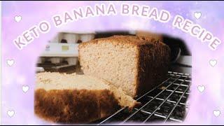 KETO (PK) BANANA BREAD RECIPE | KETO AND PALEO, GLUTEN FREE, DAIRY FREE