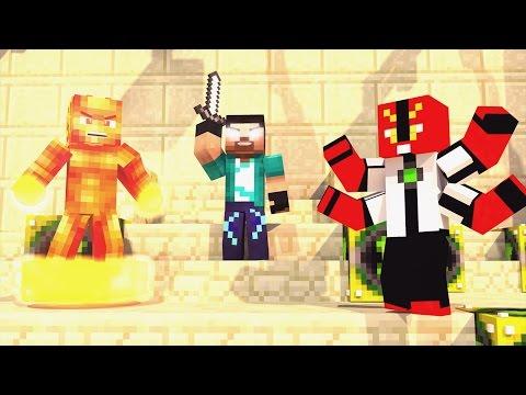 Minecraft - PIRAMIDE DO BEN 10 DE LUCKY BLOCK!! - MINI GAME PVP!