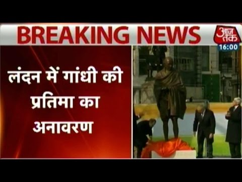 Statue of Mahatma Gandhi Unveiled In London