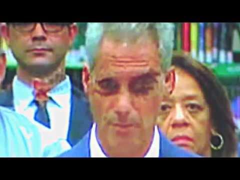 Chicago Mayor Rahm Emmanuel's Demon Eyes)(VERY DISTURBING FOOTAGE!!!)