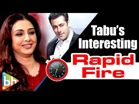 Tabu's INTERESTING Rapid Fire On Salman Khan | Katrina Kaif | Ang Lee | Irrfan Khan