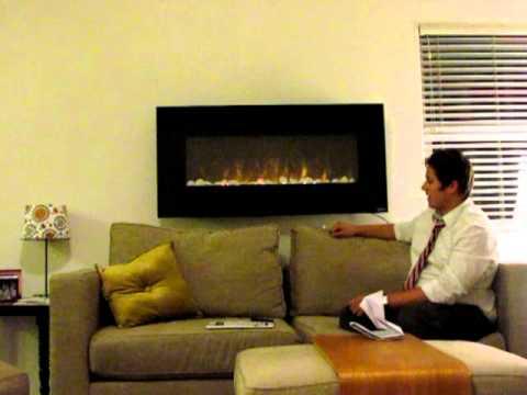 Napoleon EFL48 EFC32 Electric Modern Fireplace Consumer Review. Installation Tutorial. Burn Video