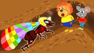 Lion Family Crown of Ant's Princess Cartoon For Kids