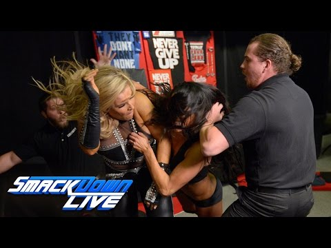Nikki Bella engages Natalya in a merchandise stand brawl: SmackDown LIVE, Jan. 17, 2017