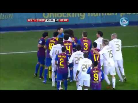 El Clasico - Real Madrid Most Heated Moments { Fights, Brawls, Fouls }