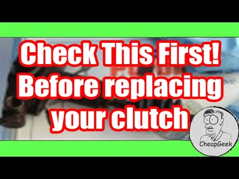Before replacing your car's clutch. check the master / slave cylinder. Could Save Big $$.