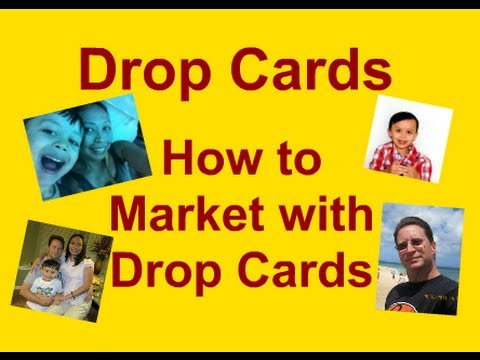 Drop Card Marketing Drop Card Marketing With Drop