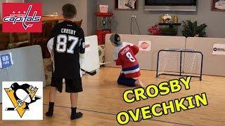 Kids HocKey - Knee Hockey NHL Playoffs Alexander Ovechkin vs Sidney Crosby Winner takes on CBANKS