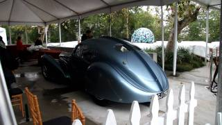 $38MIL Bugatti Type 57SC Atlantic Coupe starting up