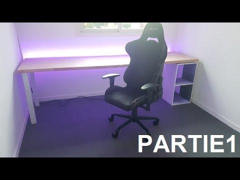 Decoration bureau gamer grand bureau noir grand bureau d angle