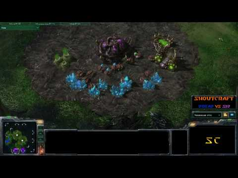 SHOUTcraft - Sid (Z) vs Dread (T) - Starcraft 2 Beta (TotalBiscuit solo commentary)