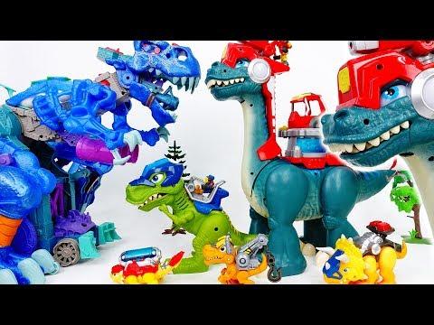 The Battle Between Giant Dinosaurs~! Chomp Squad Blaze Asaurus - ToyMart TV