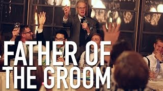 Father of (one of) the grooms gives an awkward, loving wedding toast