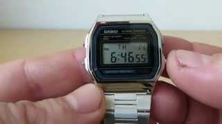 Unboxing CASIO Watch A158WA-1JF retro style