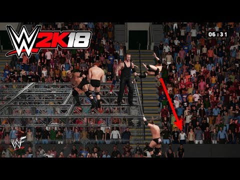 WWE 2K18: Crazy 6 Man Hell In A Cell Match - Armageddon 2000