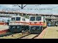 ABB GZB WAP5 SHATABDI | FASTEST Meets The POWERFUL | P5   P7 | Indian Railways !!