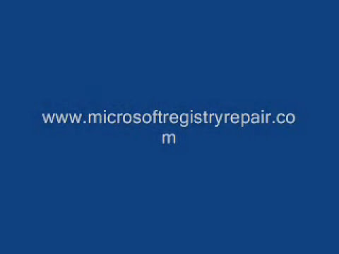 Microsft Windows Registry Repair