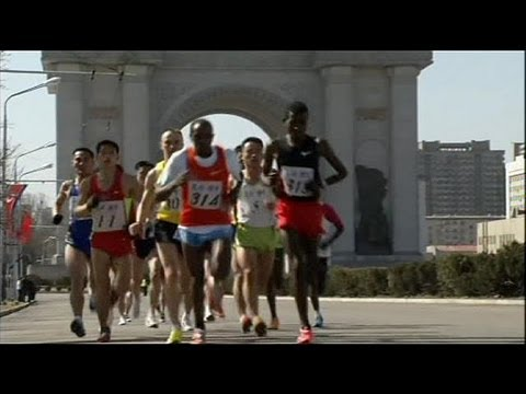 North Korea holds marathon - no comment