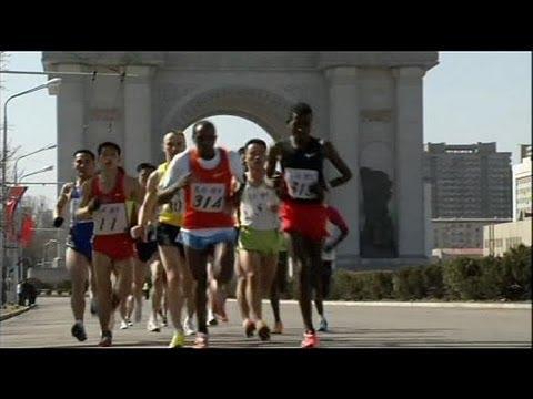 North Korea holds marathon - no comment