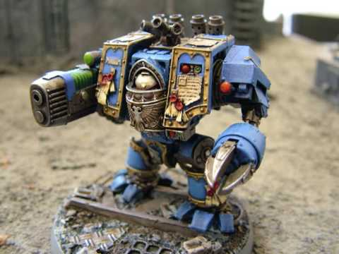 Warhammer 40K Forgeworld Venerable Dreadnought with plasma cannon
