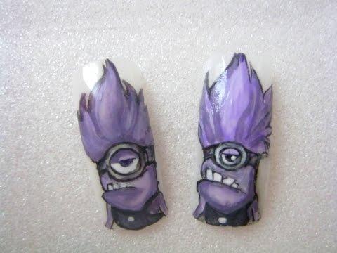 Evil Minions Drawing Nail Art Evil Minion Drawing/