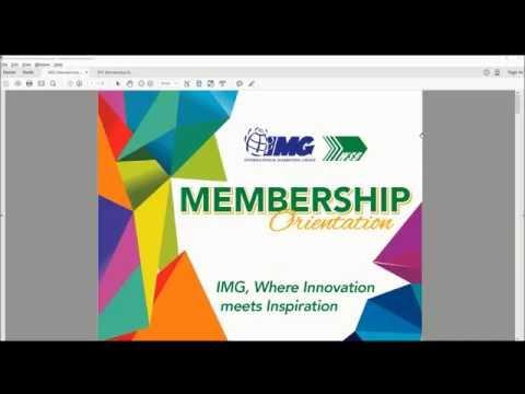 IMG Membership Orientation