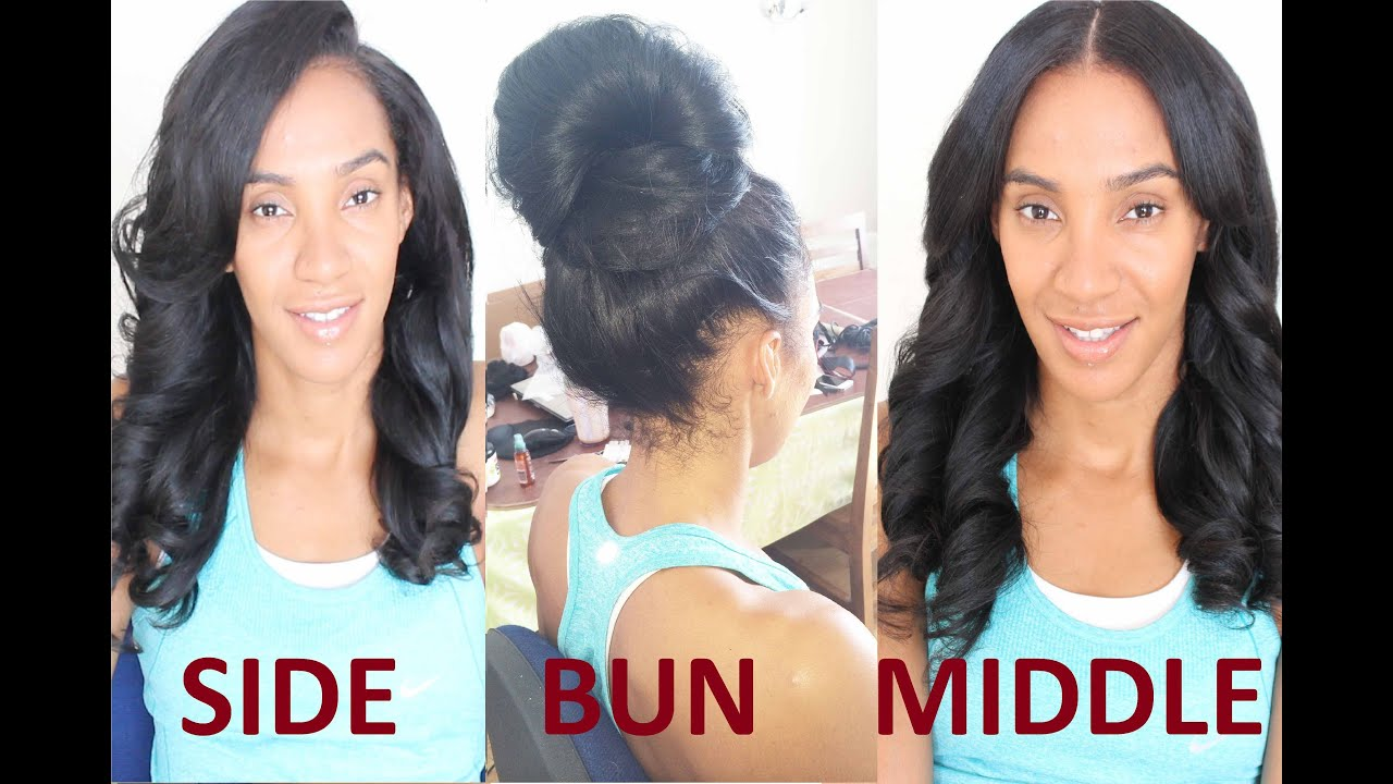The Two Part Versatile Weave ( Flip Over Sew In ) - YouTube