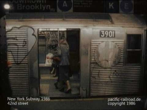 New York Subway 1986 NYC -directors cut- with stereo audio track.mpg Music Videos