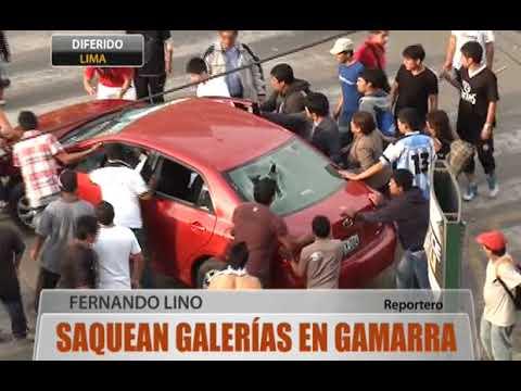 Saquean galerías en Gamarra