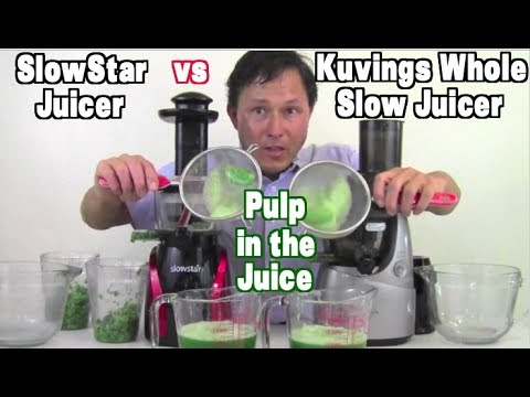 Slow Juicer Pulp : Kuvings Whole Slow Juicer vs Slowstar : Pulp in the Juice Comparison - YouTube