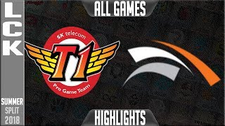 SKT vs HLE Highlights ALL GAMES | LCK Summer 2018 Week 4 Day 3 | SKT T1 vs Hanwha Life FULL SERIES