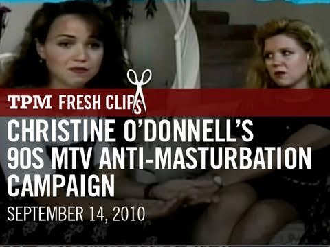 Christine O'donnell's 90's Mtv Anti-masturbation Campaign video
