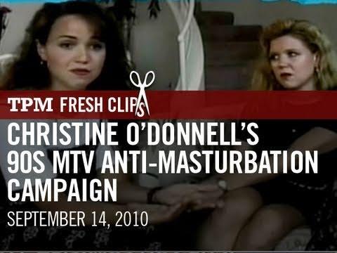 Christine O'donnell's 90's Mtv Anti-masturbation Campaign video