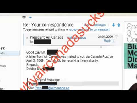 Part 8. Air Canada's disturbing reply to a customer's complaint