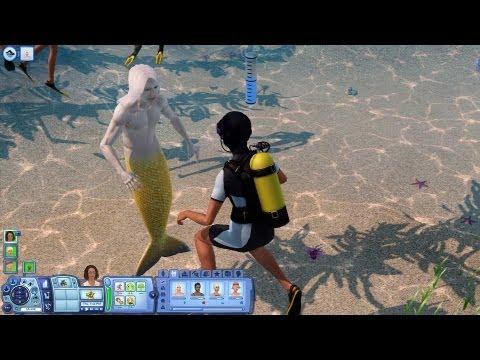 Sims 3 Island Paradise Oynuyoruz - Bölüm 3 - Deniz Adamına gel!