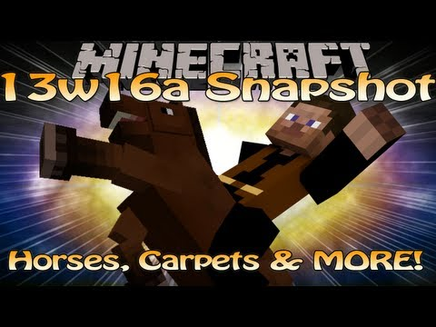 Minecraft 1.6 13w16a Snapshot Update - Horses, Carpets & MORE!