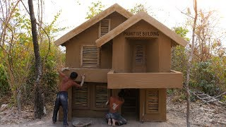 Build Awesome two story mud villa House And strong