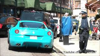 Arab Supercars: Al Thani 599 GTB gets parking ticket and accelerates LOUD