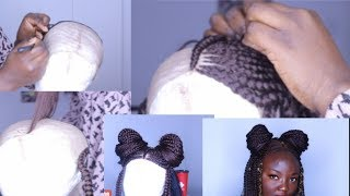 NEW METHOD!How To Make Box Braid Wig with NO Closure /REALISTIC BOX BRAID WIG FOR LESS #2