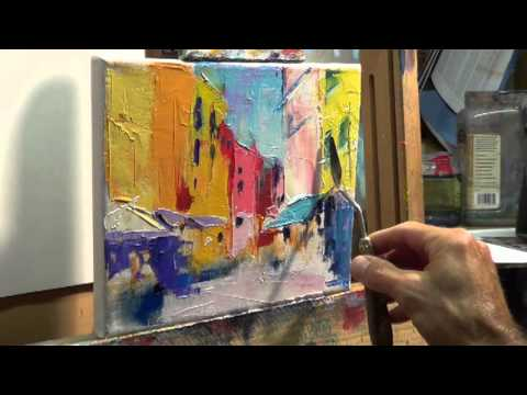How to oil paint tips tricks with the palette knife for How paint on canvas