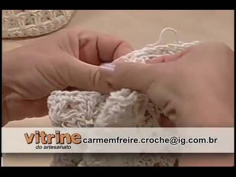 Bolsa de Crochê Endurecido - Carmem Freire - Vitrine do Artesanato na TV