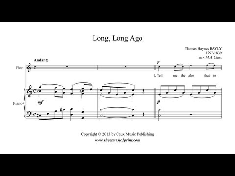 Long, Long Ago - Flute Sheet Music