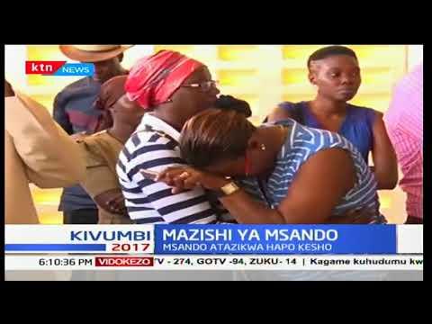 Mwili wa aliyekuwa afisa wa teknolojia IEBC, Chris Msando umefikishwa kwao Siaya