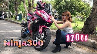 Kawasaki Ninja300 - Co Giao review ninja300 Màu Hồng | MinhBiker