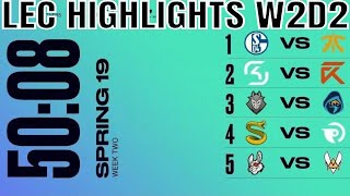 LEC Highlights ALL GAMES Week 2 Day 2 Spring 2019 | League of Legends European Championship