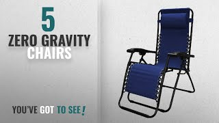 Top 10 Zero Gravity Chairs [2018]: Caravan Sports Infinity Zero Gravity Chair, Blue