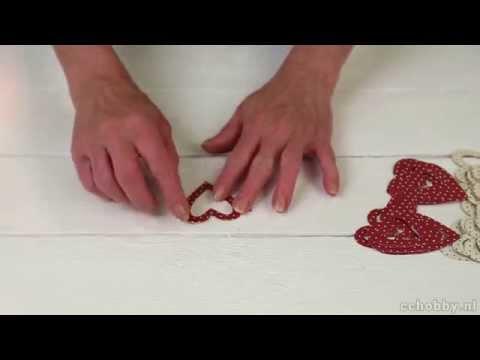 Slinger van harten van Vivi Gade Design Karton