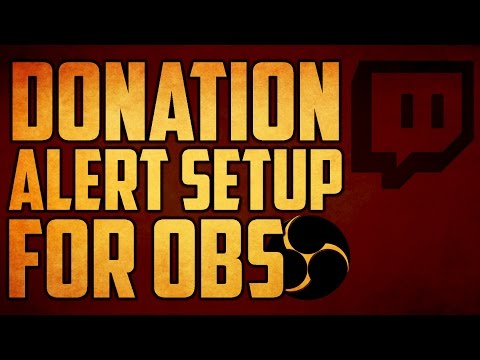 How To Setup Twitch Donation Alert Open Broadcaster Software - Tutorial #37