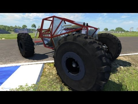 BeamNG Drive Alpha Crash Testing Slow Motion #3 HD