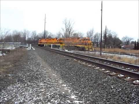 B&P Local And EB NS Stack Train At Erie, PA 2-12-13 By Jim Gray